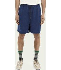 scotch & soda striped tencel™ beach shorts
