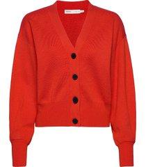 sammyiw cardigan gebreide trui cardigan oranje inwear