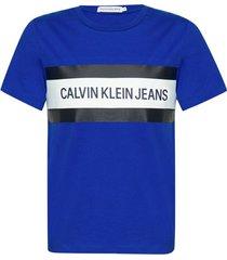 camiseta ckjj mc box logo - azul royal - 8