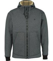 wolverine men's nation jacket grey heather, size xxl