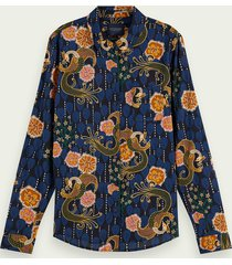 scotch & soda regular fit blouse van een katoenmix
