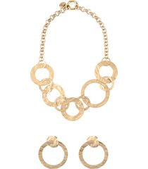gold case jewelry sets