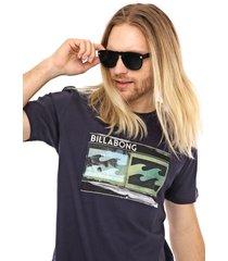 camiseta billabong double azul-marinho - azul marinho - masculino - dafiti