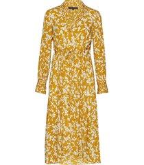 bruna light midi shirt dress jurk knielengte geel french connection