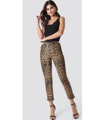 na-kd leopard denim pants - multicolor