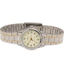 reloj casio ltp_v001sg_9b multicolor acero inoxidable