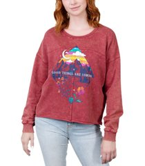 rebellious one juniors' good things are coming graphic sweatshirt