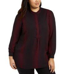 anne klein plus size florentine dot printed blouse