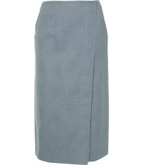 calvin klein 205w39nyc plaid skirt - grey