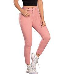pantalón para mujer palo de rosa oscuro atypical