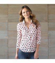 shell vintage floral blouse