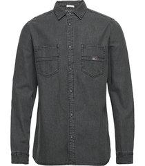 tjm denim shirt skjorta casual grå tommy jeans