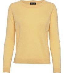 slfaya ls knit cashmere o-neck b gebreide trui geel selected femme