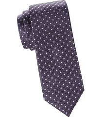silk medallion print tie