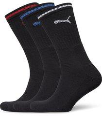 puma crew sock stripe 3p underwear socks regular socks svart puma