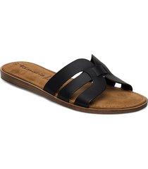 woms slides shoes summer shoes flat sandals svart tamaris