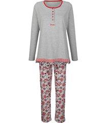 pyjama simone grijs::bordeaux::marine
