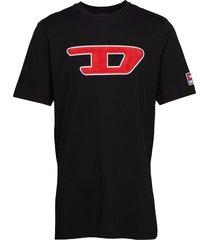 t-just-division-d t-shirt t-shirts short-sleeved svart diesel men