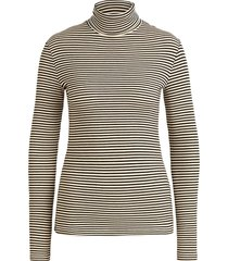 king louie rollneck top tweedy stripe black