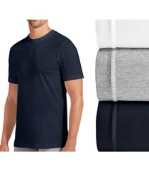 jockey men's tagless slim-fit 3-pack crewneck undershirt