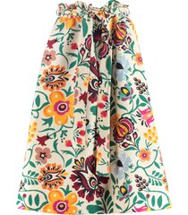 la doublej sardegna belted printed skirt