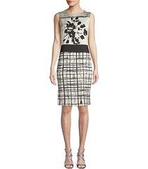 sleeveless stretch silk dress
