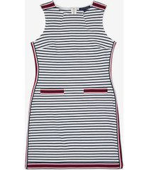 tommy hilfiger women's essential sleeveless stripe dress bright white/ sky captain - s