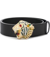 gucci tiger head belt - black