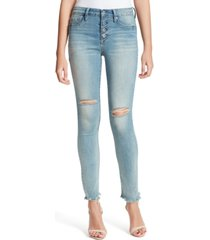 jessica simpson kiss me ripped skinny ankle jeans