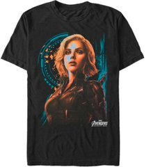 marvel men's avengers infinity war painted agent widow short sleeve t-shirt