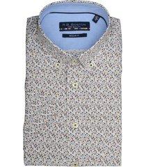 bos bright blue overhemd kortemouw bruin 916670/603