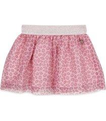 falda tull print rosado pillin