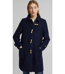 abrigo con lana azul marino esprit