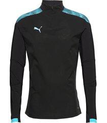 ftblnxt 1/4 zip top sweat-shirt trui blauw puma