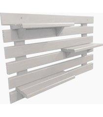 floreira vertical madeira alce couch vaso parede branco 60cm