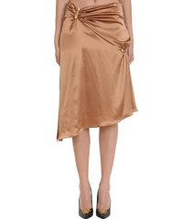 versace skirt in brown silk