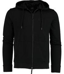 armani exchange vest zwart met capuchon mf 8nzm74.z9n1z/1200