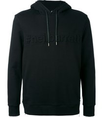 neil barrett embossed sweatshirt - black