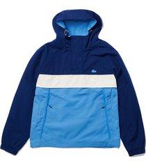 hooded smock pullover jacket