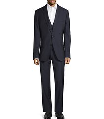 slim-fit reda wool jacket, vest & pants 3-piece suit