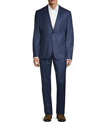 modern-fit 2-piece solid wool suit
