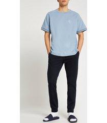 river island mens blue ri short sleeve sweatshirt