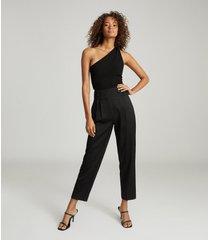 reiss thea - twist-detail one-shoulder top in black, womens, size xl