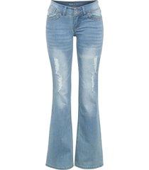 jeans a zampa (blu) - rainbow