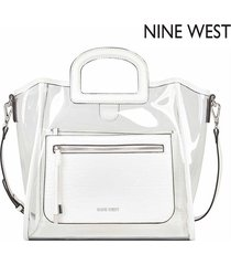 cartera nine west marisol small tote - blanco