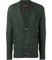 barena cable knit cardigan - green