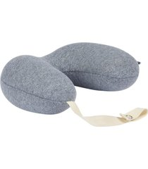 almofada fom de pescoco bebe com porta chupeta cinza - incolor - dafiti