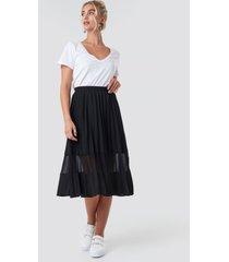 na-kd trend co-ord pleated panel midi skirt - black