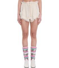 isabel marant talapiz shorts in beige polyester