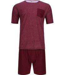 pijama camiseta corta pantalón corto color morado, talla m